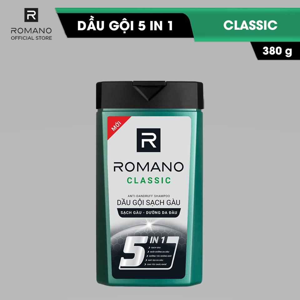 DẦU GỘI SẠCH GÀU ROMANO CLASSIC 380G