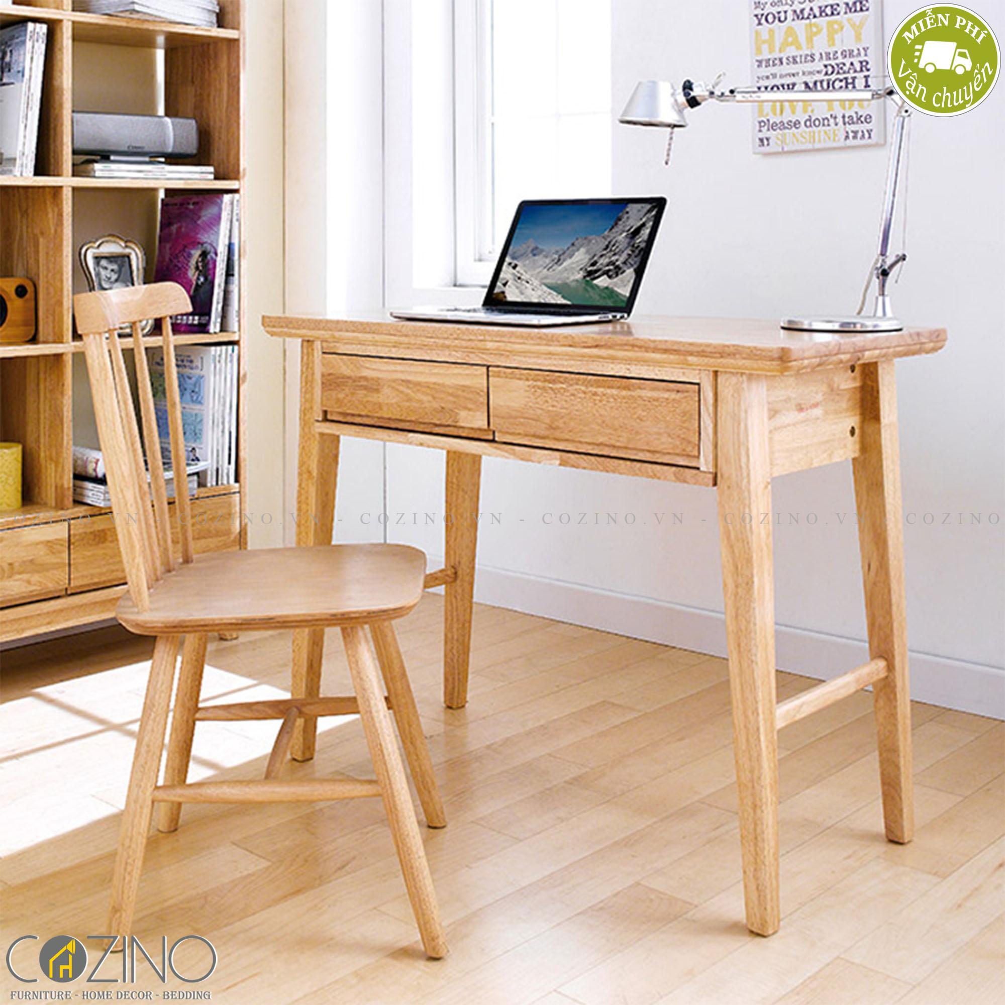 Bàn làm việc nhỏ IXORA gỗ cao su (không ghế) - cozino