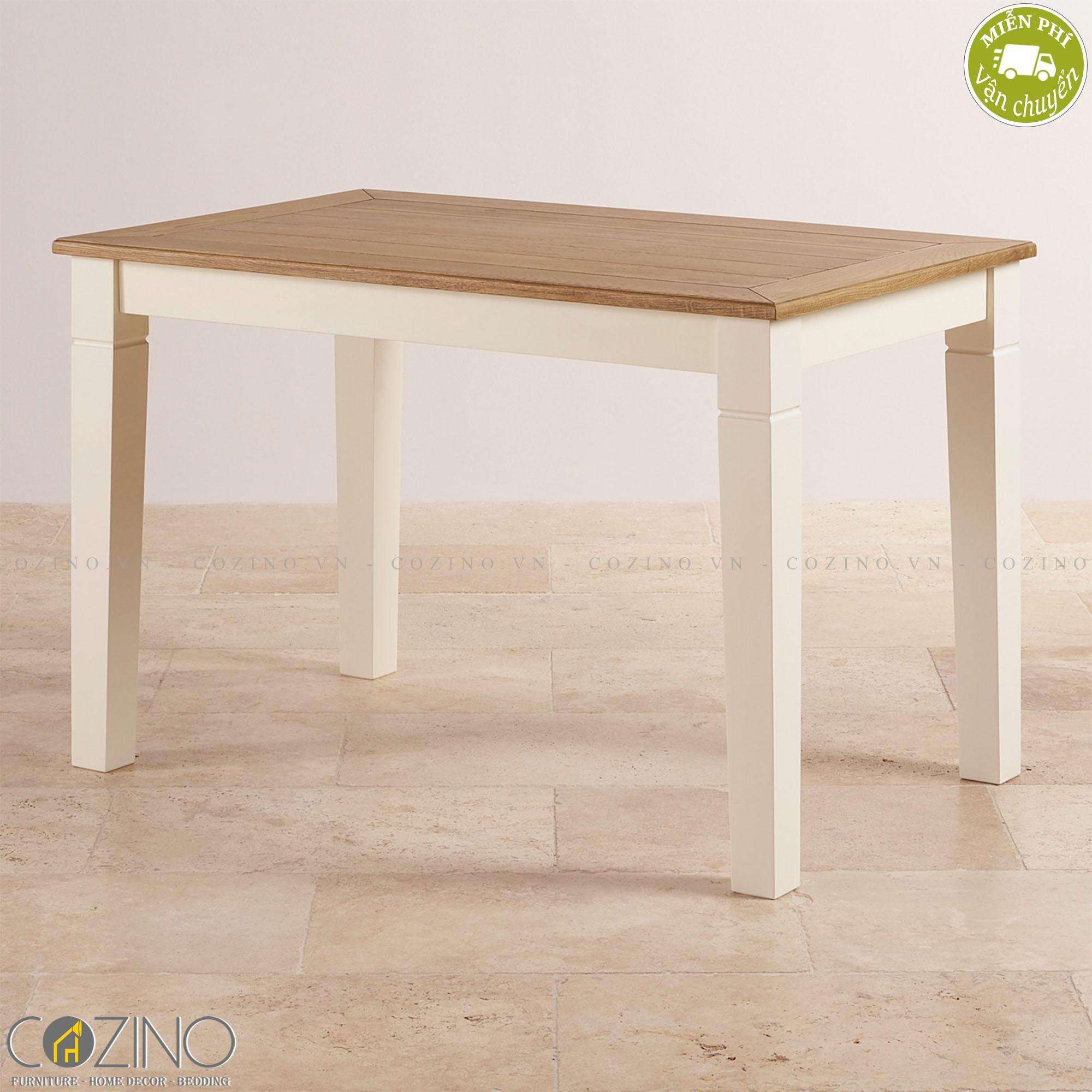 Bàn ăn 2 chỗ Chillon 100% gỗ sồi (60x60cm) - cozino