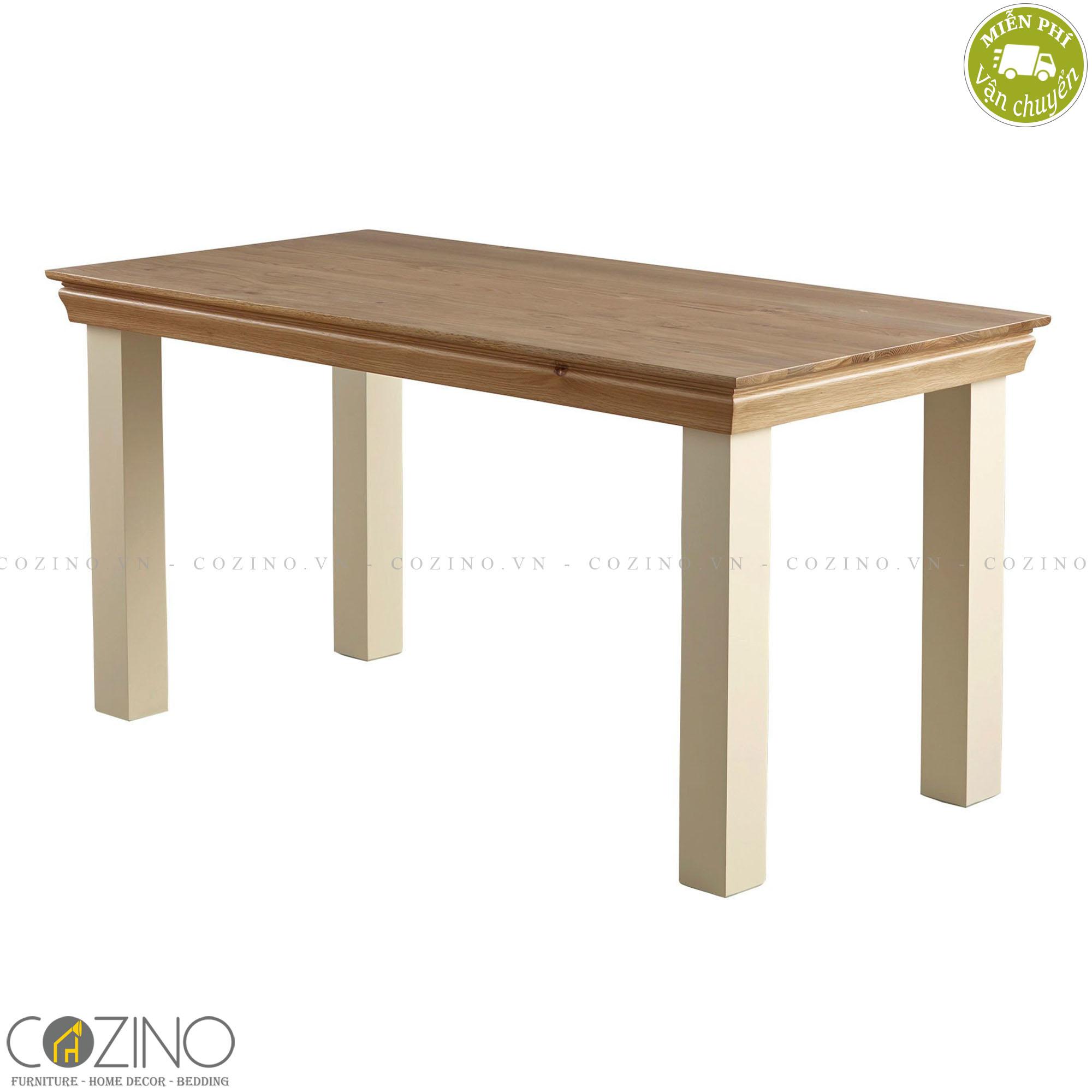 Bàn ăn 2 chỗ Canary 100% gỗ sồi (60x60cm)- cozino