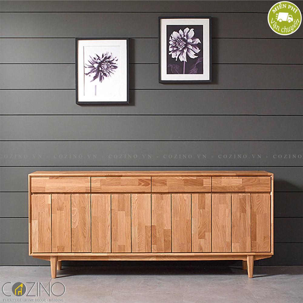 Tủ trưng bày lưu trữ Calla B gỗ cao su 1m8 - Cozino