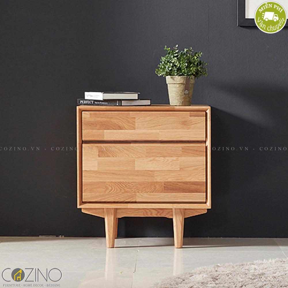 Tủ ngăn kéo Calla 2 hộc gỗ cao su - cozino