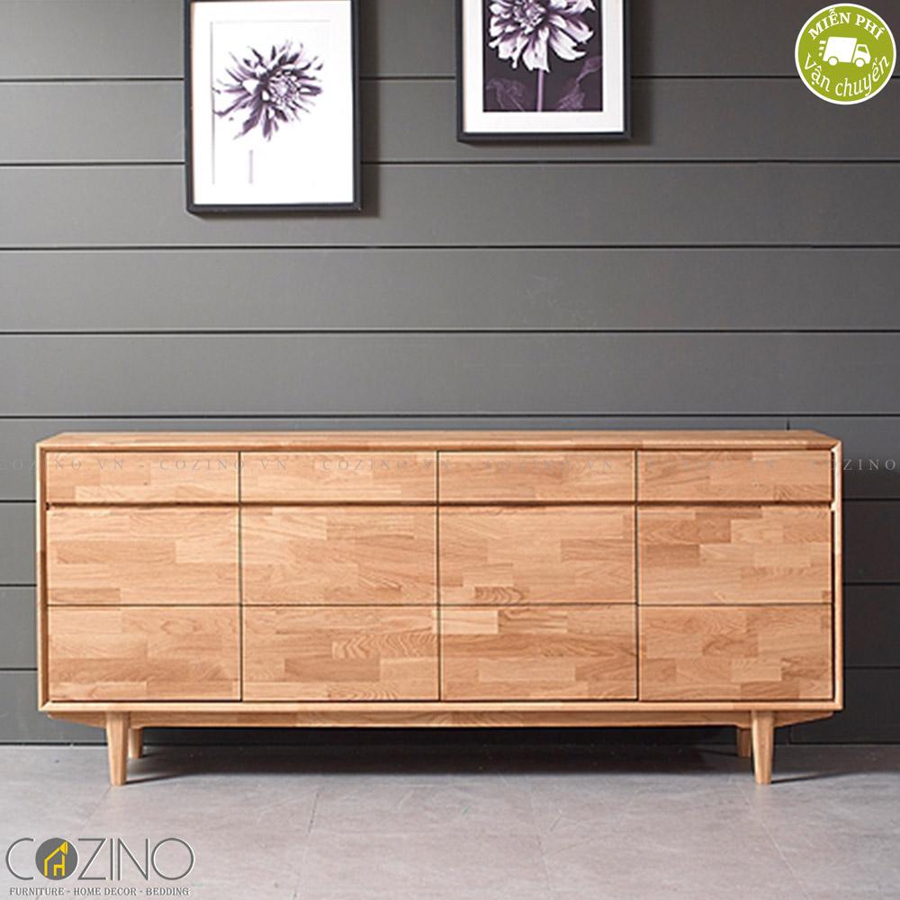 Tủ trưng bày lưu trữ Calla A gỗ cao su 1m8 - Cozino