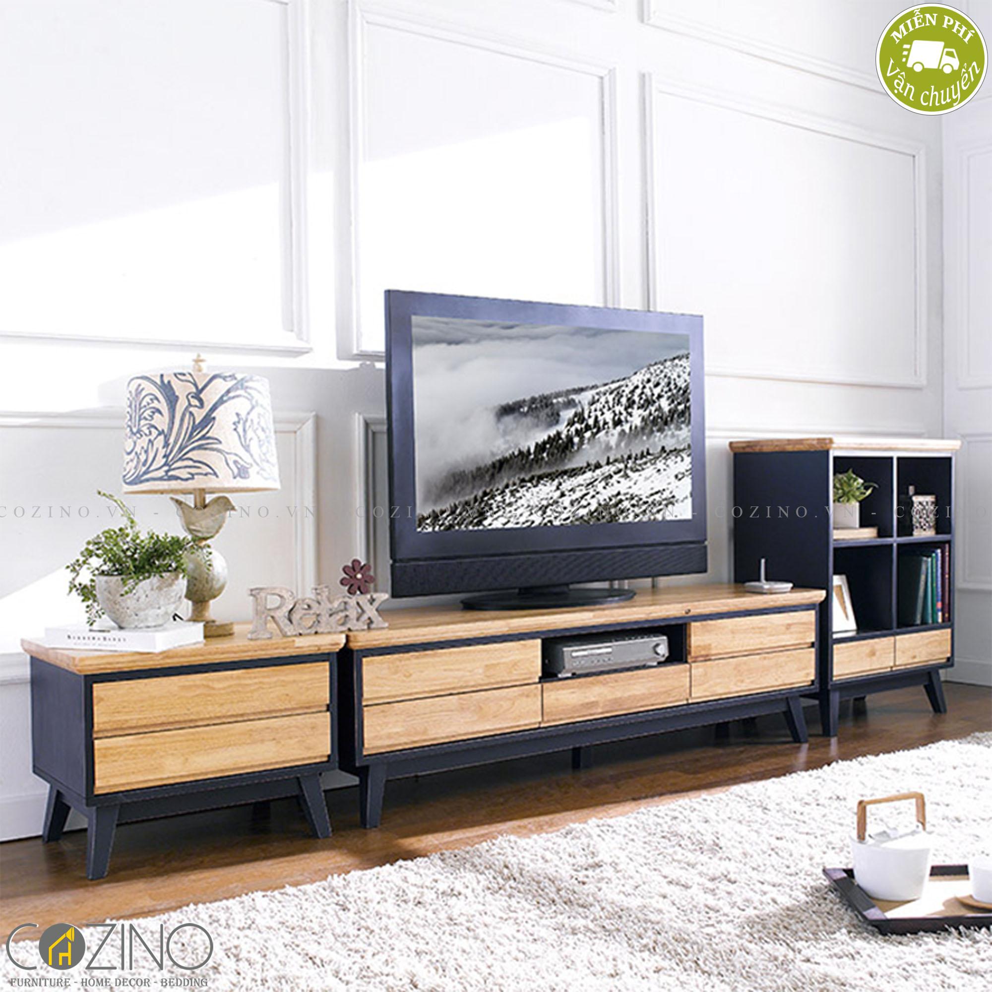 Tủ tivi Lantana gỗ cao su