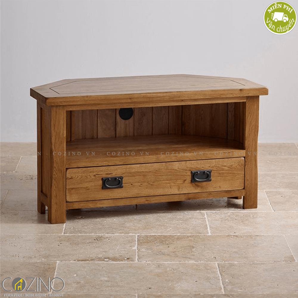 Tủ tivi góc Original Rustic gỗ sồi
