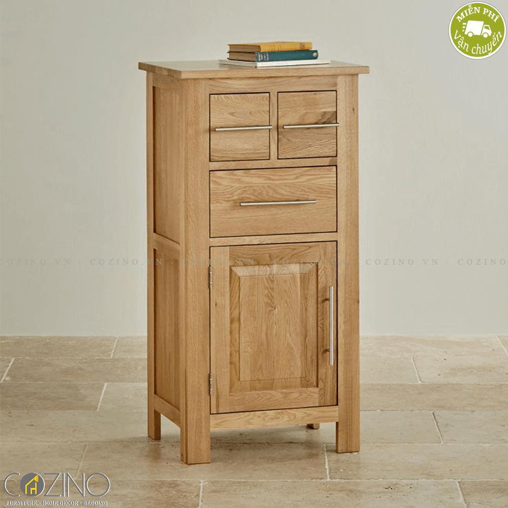 Tủ lưu trữ cao Kintai gỗ sồi