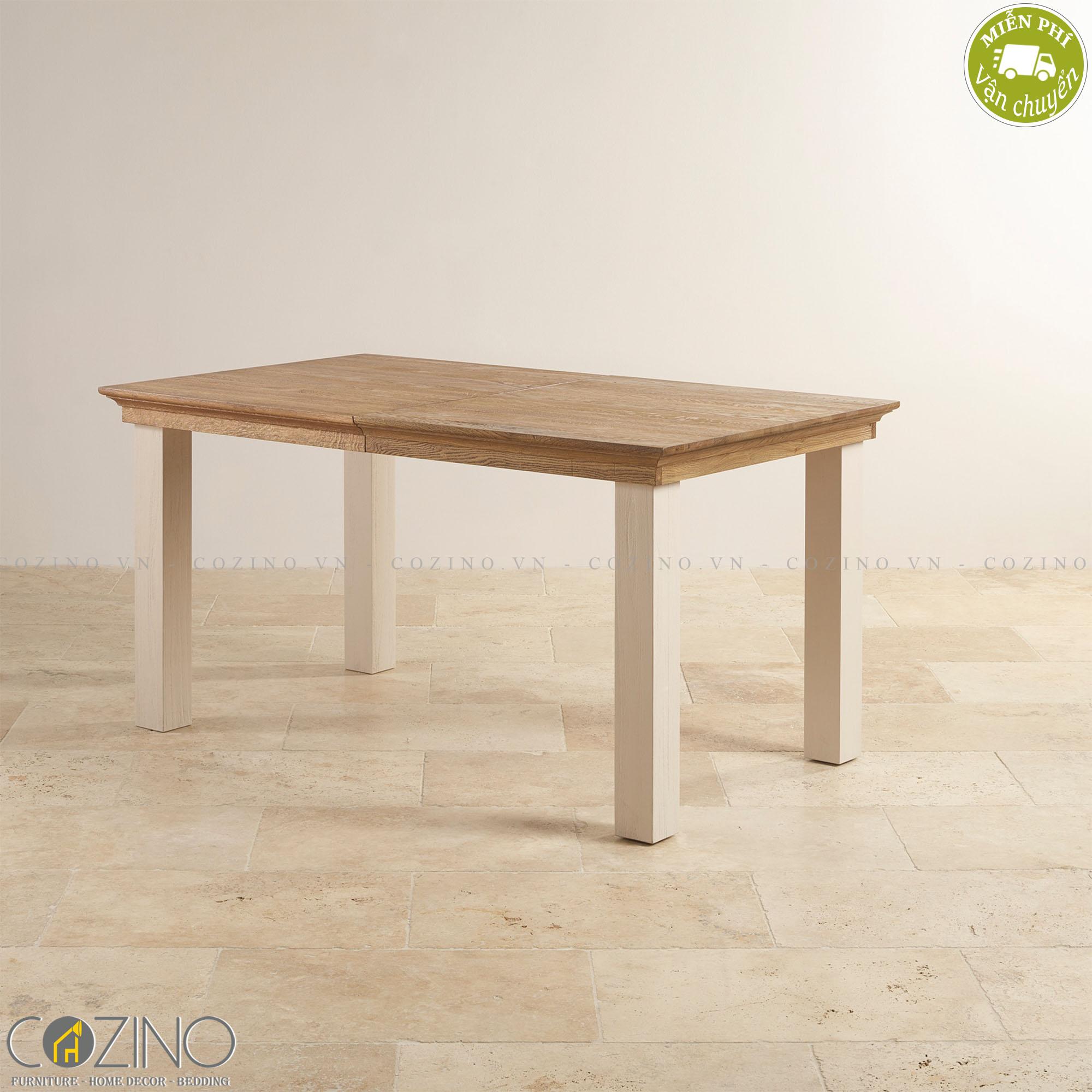 Bàn ăn 8 chỗ Sark 100%  gỗ sồi 2m0 - Cozino