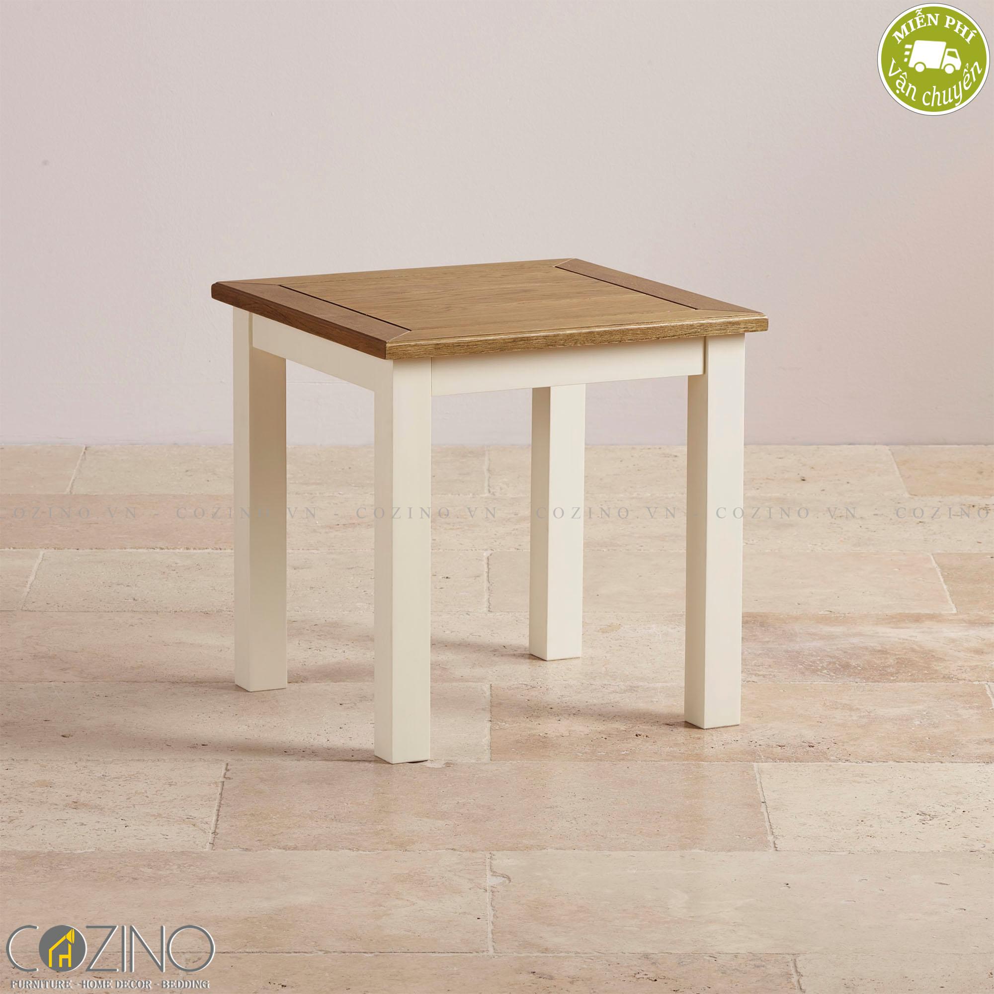 Ghế đôn bàn trang điểm Chillon 100% gỗ sồi - Cozino