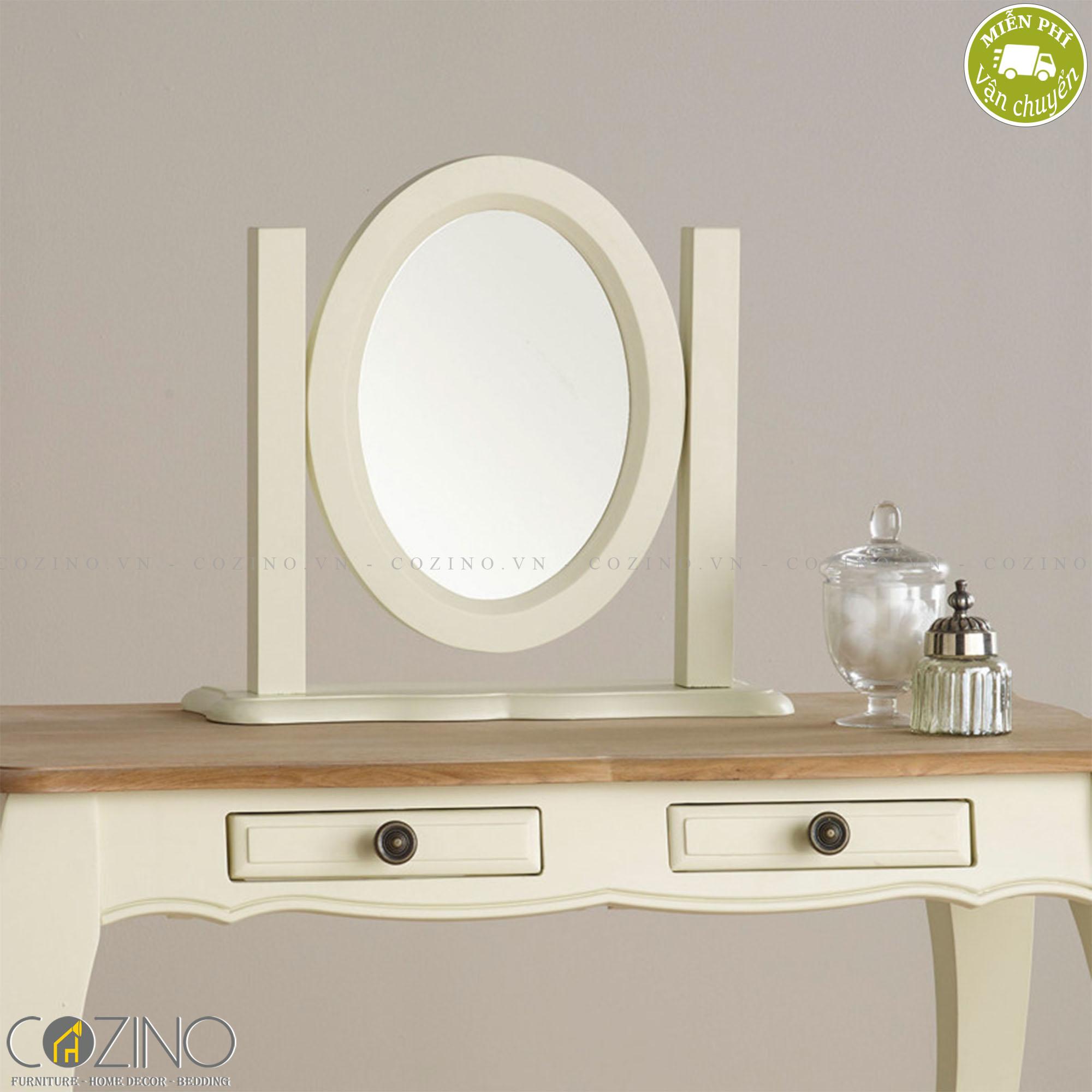 Gương để bàn Skye 100% gỗ sồi - cozino