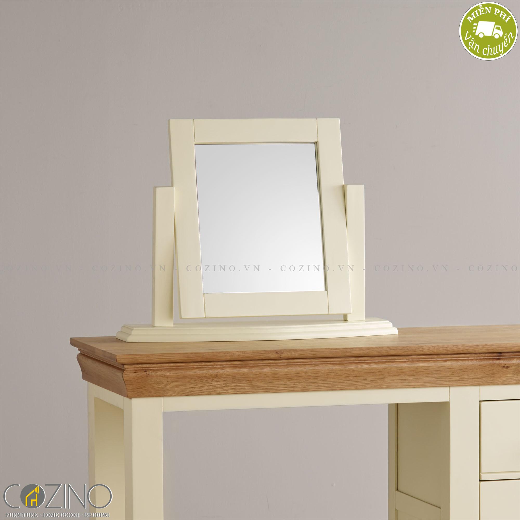 Gương để bàn Canary 100% gỗ sồi - Cozino