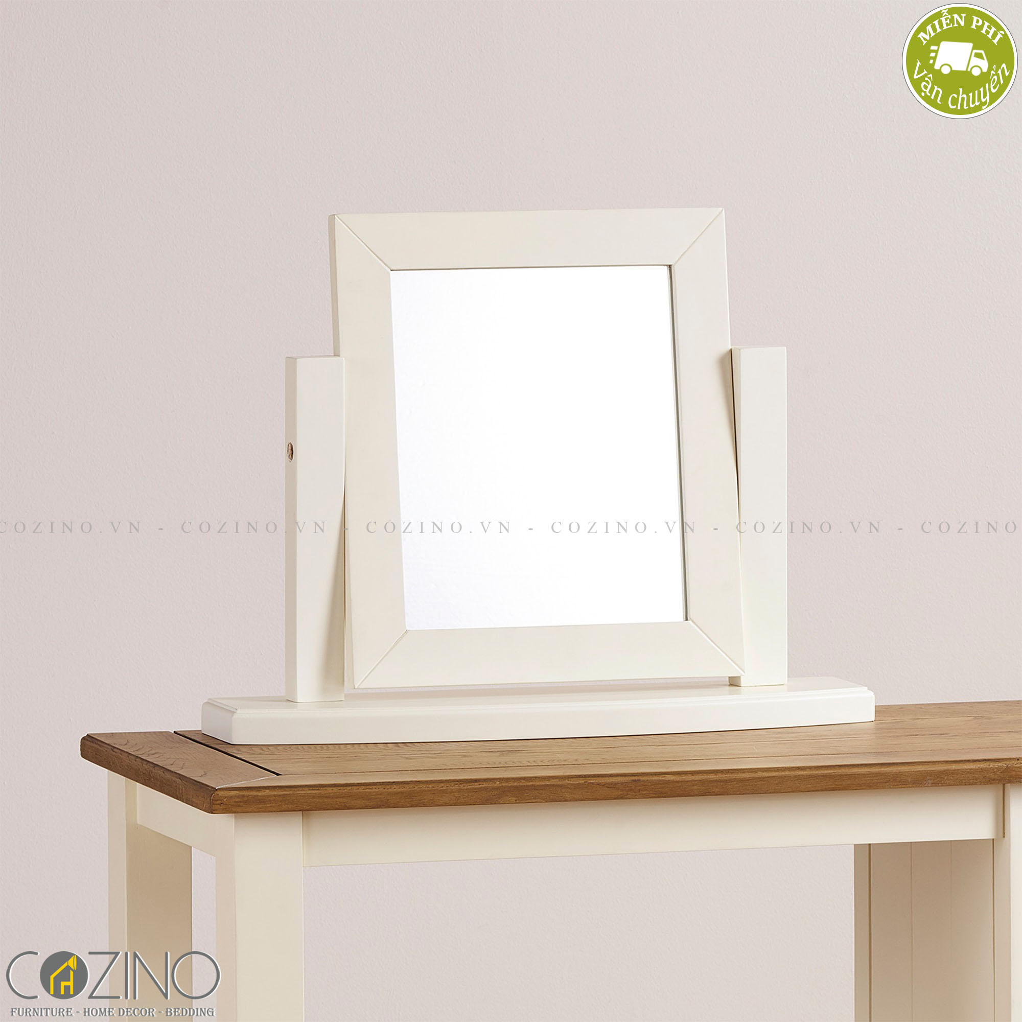 Gương để bàn Chillon 100% gỗ sồi  - Cozino
