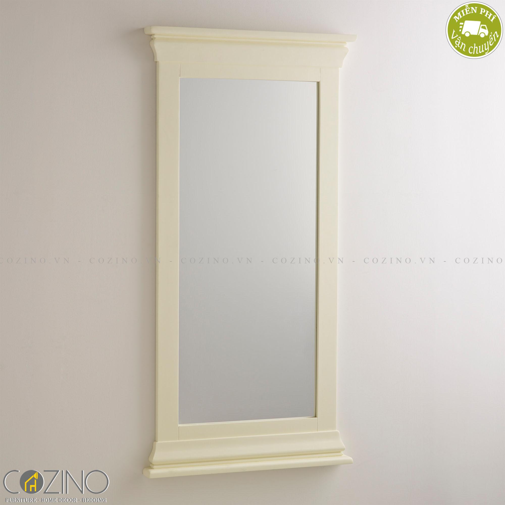 Gương treo tường Canary 100% gỗ sồi - Cozino