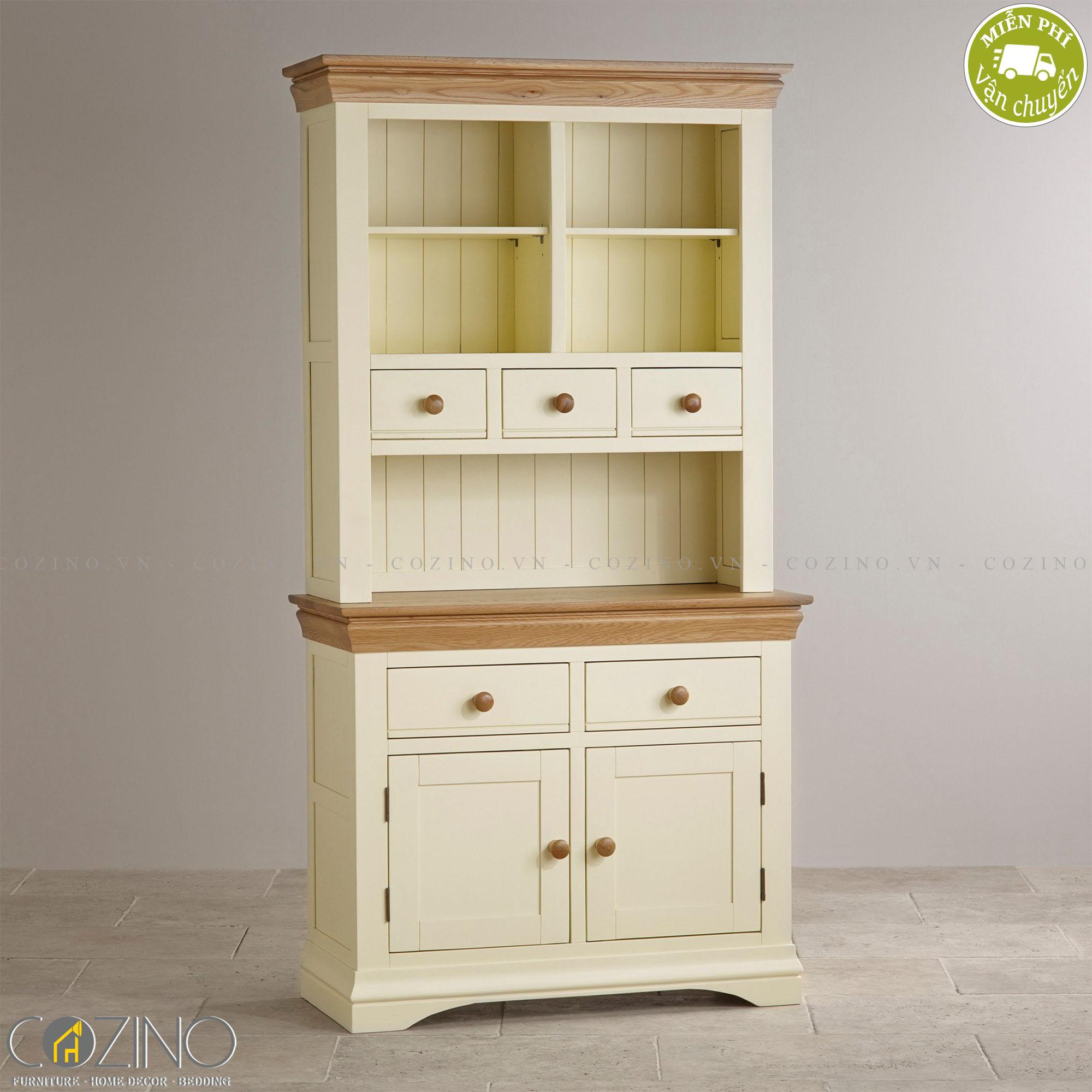 Tủ bếp nhỏ Canary gỗ sồi - Cozino