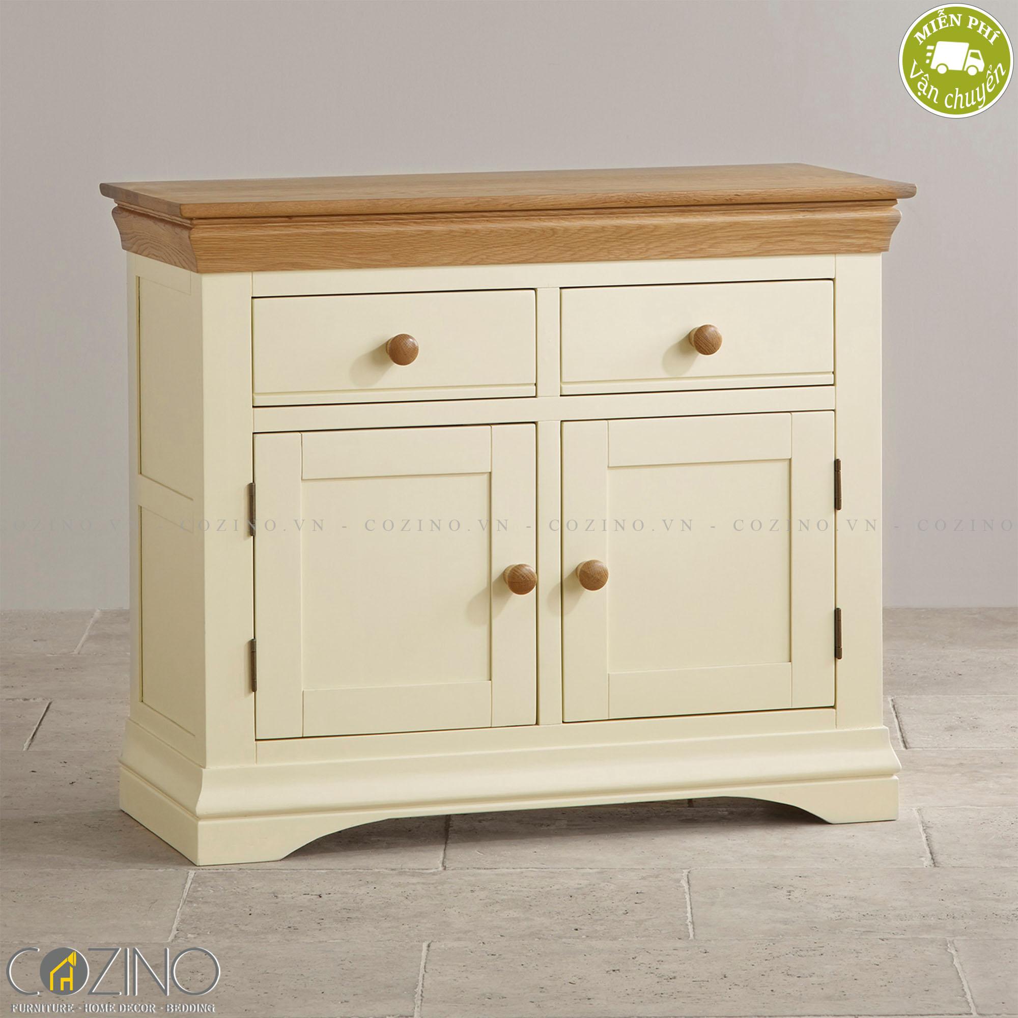 Tủ chén nhỏ Canary gỗ sồi - Cozino