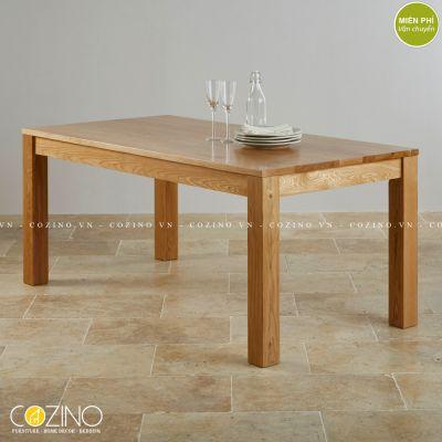 Bàn ăn 8 chỗ Capri 100% gỗ sồi 2m0