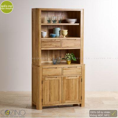 Tủ bếp nhỏ Emley gỗ sồi 1m