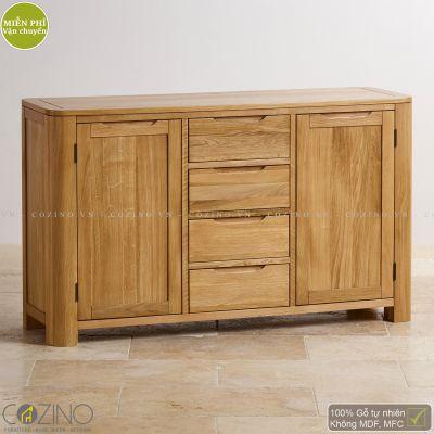 Tủ chén Emley lớn gỗ sồi 1m4