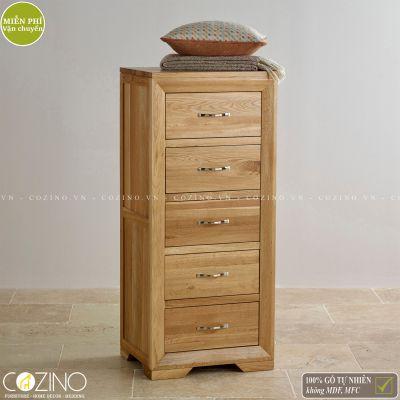 Tủ ngăn kéo đứng Camber 5 hộc gỗ sồi