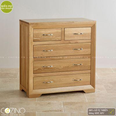 Tủ ngăn kéo ngang Camber 5 hộc gỗ sồi