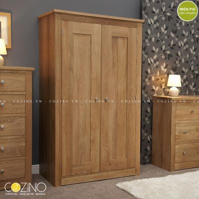 Tủ quần áo hai cánh Torino gỗ sồi