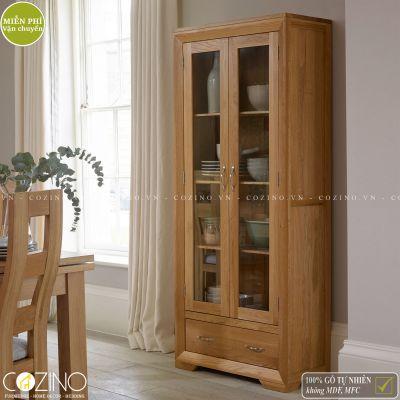 Tủ trưng bày Camber gỗ sồi 1m