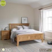 Giường đôi Camber 100% gỗ sồi 2m2