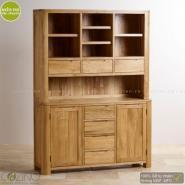 Tủ bếp lớn Emley gỗ sồi 1m4