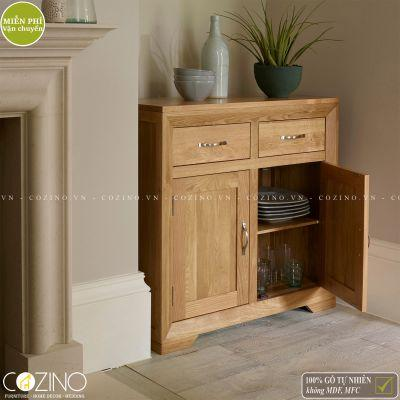 Tủ chén nhỏ Camber gỗ sồi