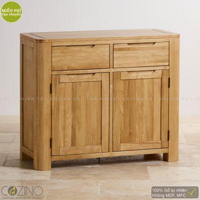 Tủ chén Emley nhỏ gỗ sồi 1m