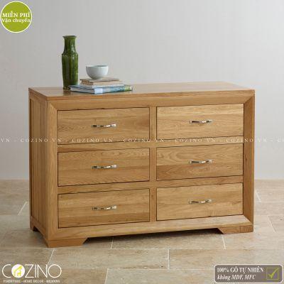Tủ ngăn kéo ngang Camber 6 hộc gỗ sồi